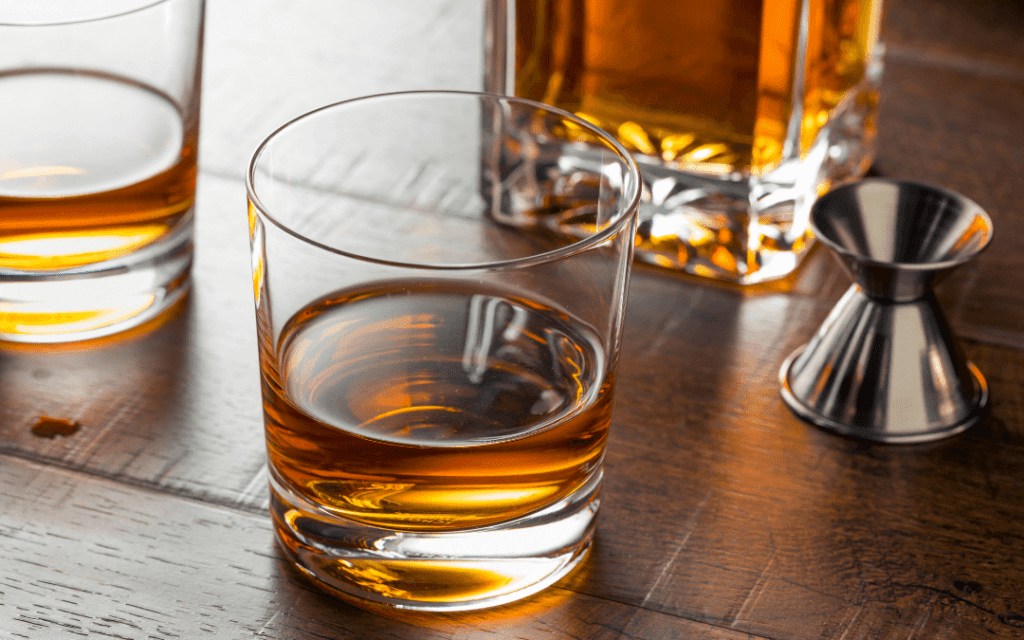 Sip and enjoy bourbon whiskey